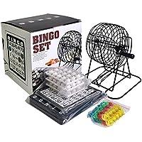 コンパクト ビンゴ ゲーム セット ビンゴマシーン ポータブル ゲーム機 ナンバー入りボール・ビンゴカード 付き ミニ 抽選 (ブラック・通常品)