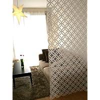 SunnyDayFabric フリーカットパネル ノア 北欧 カーテンフック付き ホワイト 約95cm幅×230cm丈