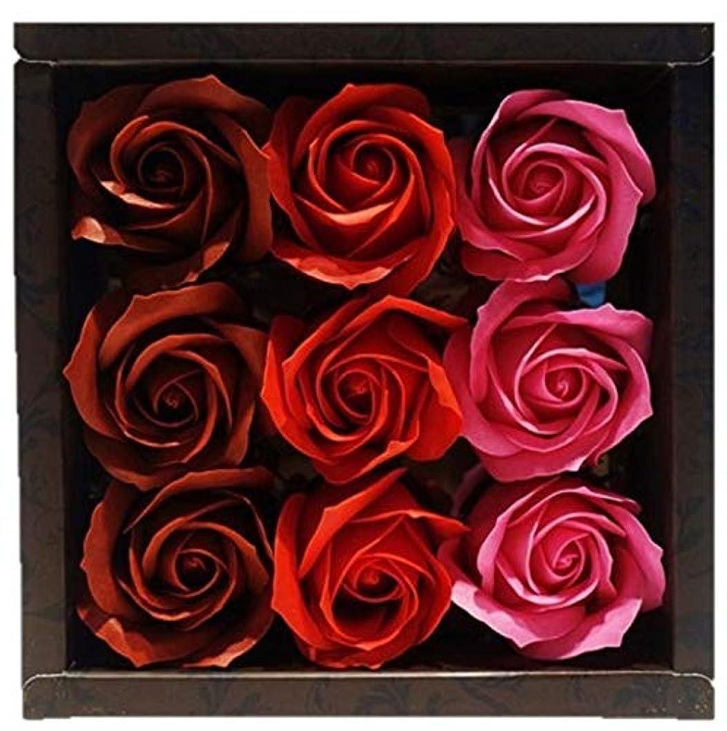 恐怖イタリック酔ってバスフレグランス バスフラワー ローズフレグランス レッドカラー お花の形の入浴剤 プレゼント ばら