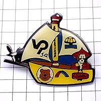 限定 レア ピンバッジ 熊印ボート帆船 ピンズ フランス
