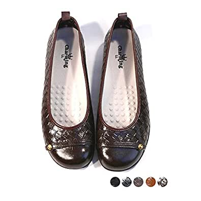 ブラックSサイズ (charming) S(22cm)~LL(25cm) 日本製 ラバーパンプス レインパンプス 走れるパンプス 型押しメッシュ風 イントレチャート雨の日 雨靴 防水 ペタンコローヒール モカシン (全5色)