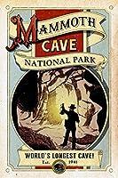 ghaynes Distributingマンモスケイブアートポスターステッカーデカール(RV国立公園Hike) サイズ: 3x 4インチ