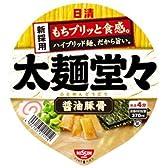 日清 太麺堂々 醤油豚骨 95g×12個