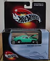 Hot Wheels 100% 1970 Ford Mustang 1:64 Scale Collectible Die Cast Car in Black Box