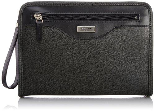 [フィガロ] メンズセカンドバッグ ベーシック 合成皮革 38582 B ブラック