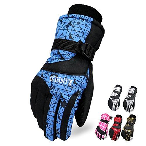 Tomoto防撥水 防寒 透湿 アウトドア 冬用 バイク マリンレジャー 登山 バイク スキー 手袋グローブ (レッド, 男性用)