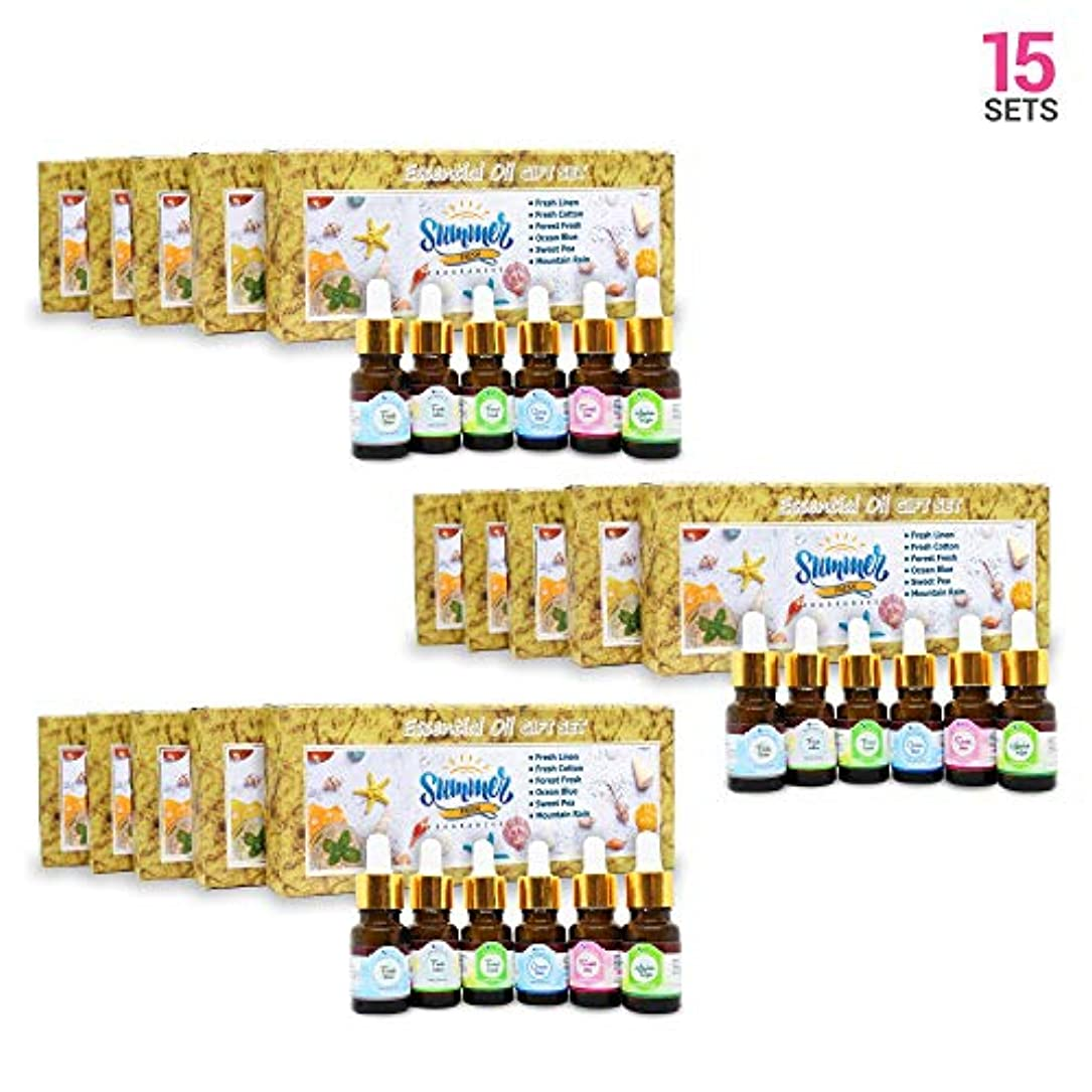 シャッター脆い緩やかなAromatherapy Fragrance Oils (Set of 15) - 100% Natural Therapeutic Essential Oils, 10ml each (Fresh Linen, Fresh...