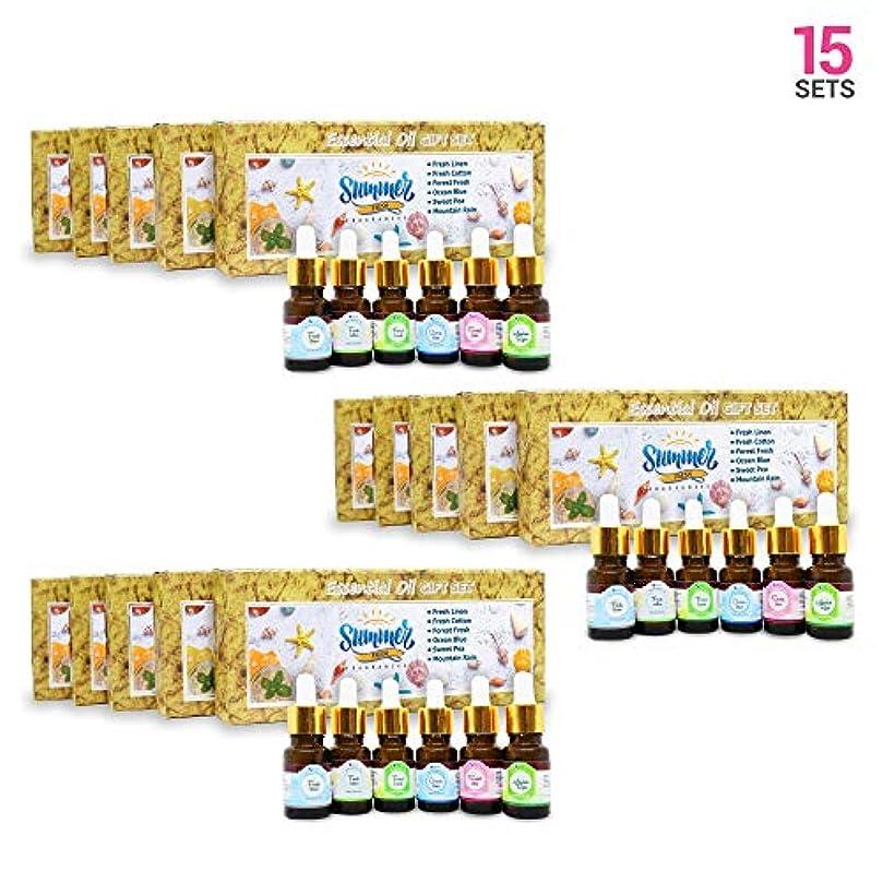 汚物贈り物詳細にAromatherapy Fragrance Oils (Set of 15) - 100% Natural Therapeutic Essential Oils, 10ml each (Fresh Linen, Fresh...