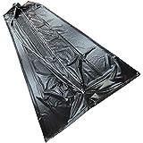 日本製 納体袋 黒 30枚入 (縦2600横820厚さ0.15mm) (遺体袋 死体袋 遺体収納袋) TYM
