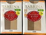 3枚×2組 グンゼ サブリナ ストッキング M〜L サンタンブラウン