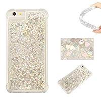 iPhone8 Plus ケース BRAVODAY [流れる愛] 輝く きれい 可愛い iPhone8 Plus シリコン ケース スターライト 愛 [エアバンパー] [衝撃吸収] iPhone8 Plus シリコン ケース [全面保護] 落下時の衝撃から本体を守る 手触りがよい 衝撃吸収構造を兼ね備えたケース (銀)