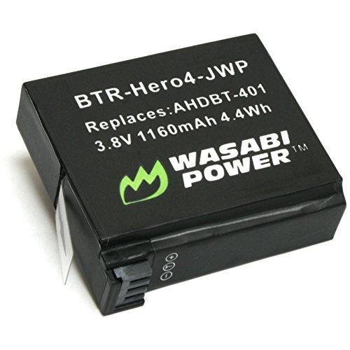 『GoPro HERO4専用 バッテリー2ケ+充電キット デュアルUSBチャージャー USBケーブル プラグ カーチャージャー WASABI POWER【並行輸入品】 GoPro HERO4, GoPro AHDBT-401, AHBBP-401』の3枚目の画像