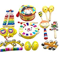 TambourineドラムベルPercussion Instrument Musical Toy for KTVパーティー子供ゲーム、# e29