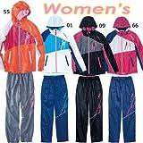(ミズノ) MIZUNO ウインドブレーカーシャツパンツ レディース 上下セット 32JE4210 32JF4210 L 55オレンジ×ピンク