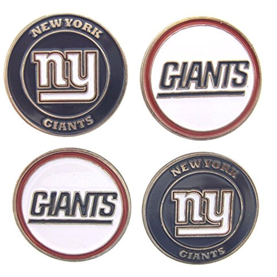 大混乱卒業記念アルバム雇用者新しいYork Giantsゴルフボールマーカー( Set of 4 )