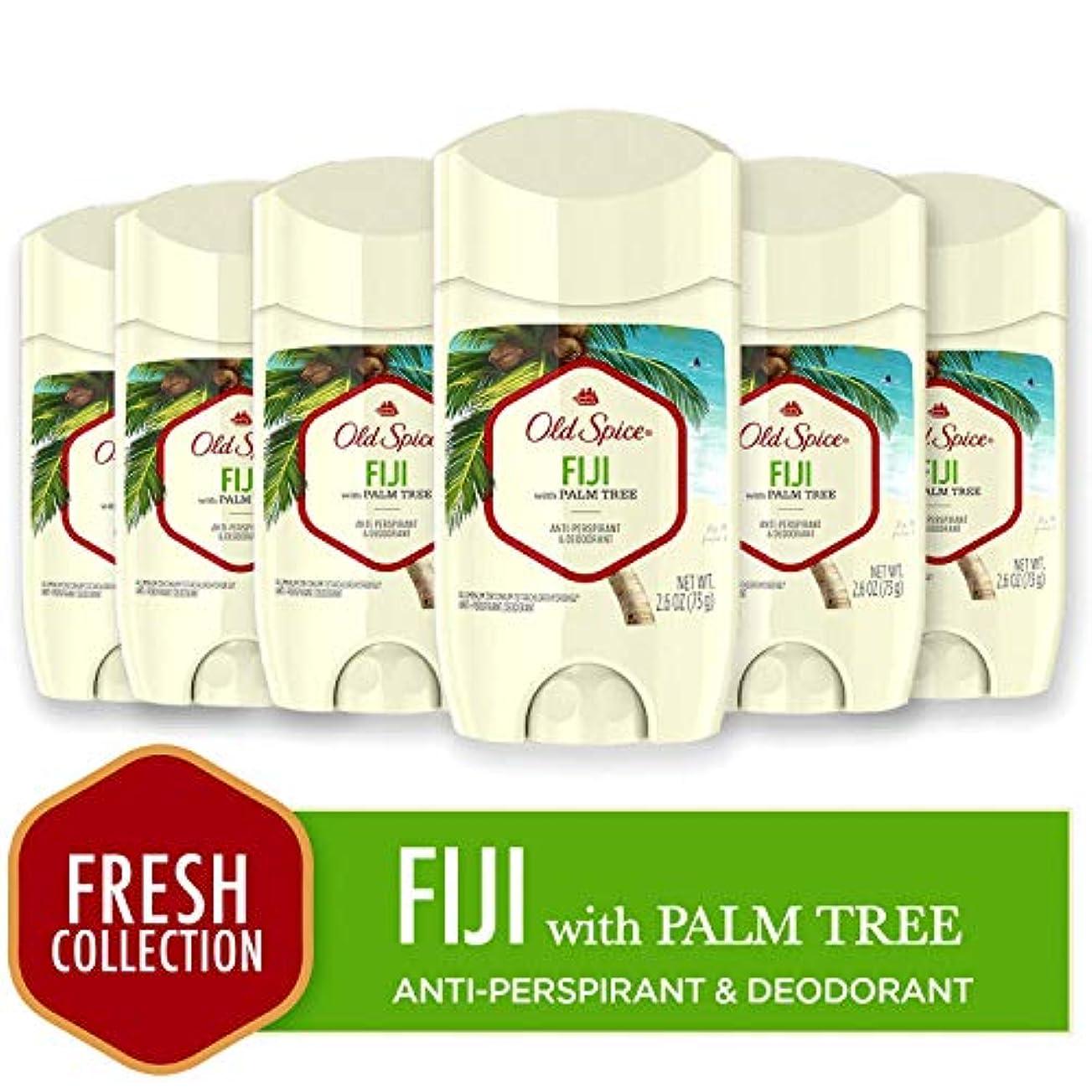 四回特異なたらいOld Spice 制汗消臭男性のために、フレッシャーコレクション、フィジー2.6オズ(6パック)、ココナッツ&トロピカルウッド香り、目に見えないソリッド  海外直送