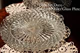 1930年代 アメリカ Duncan Miller/ダンカン&ミラー社 直径約24cm プレスガラス プレート お皿