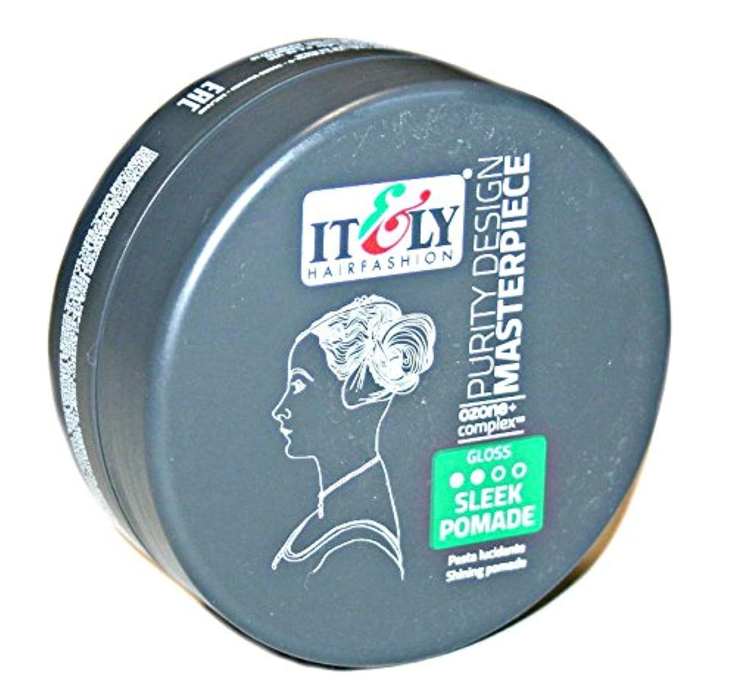 メッシュヒューマニスティック濃度IT&LY Hair Fashion それ&LYマスターピースなめらかシャイニングポマード、3.38液量オンス