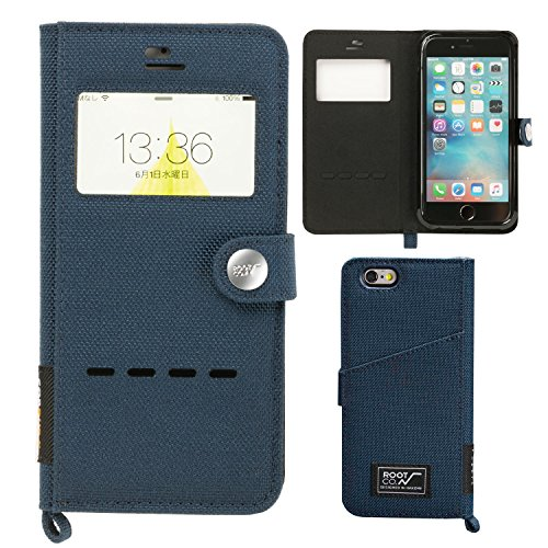 [iPhone 7専用]【ROOT CO.】窓付き 手帳型 iPhoneケース アウトドア 耐衝撃MILスペックGravity Shock Resist Diary Case. /Window Flip/(ネイビー)