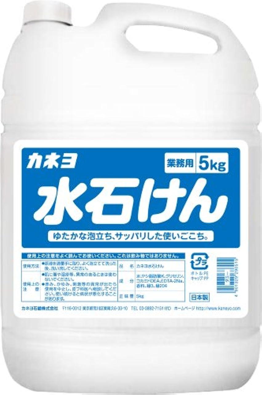 食堂上次【大容量】 カネヨ石鹸 ハンドソープ 水石けん 液体 業務用 5kg