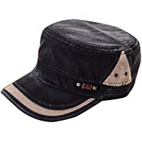 Etosell Men Women Adjustable Army Plain Vintage Hat Cadet Military Baseball Cap