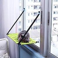 猫の窓のマウントベッドサンシャインシートペットハンモック温室パーチャクッション,Green,B