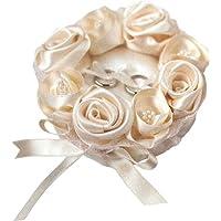 ハマナカ ウェディングキット Wedding Rose (ウェディングローズ) ローズのリングピロー シャンパンゴールド H431-121