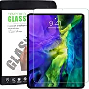 Tersely Screen Protector for New iPad Pro 11 2020, [Full Screen Covered],[Face ID] Premium 9H Tempered Glass S