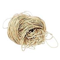 【ノーブランド品】 16色 1.5mm 80m ロープ 糸 紐 ネックレス・ヴレスレット用コード ワックスコットンコード ビーズスレッド  手芸 ジュエリー - ベージュ