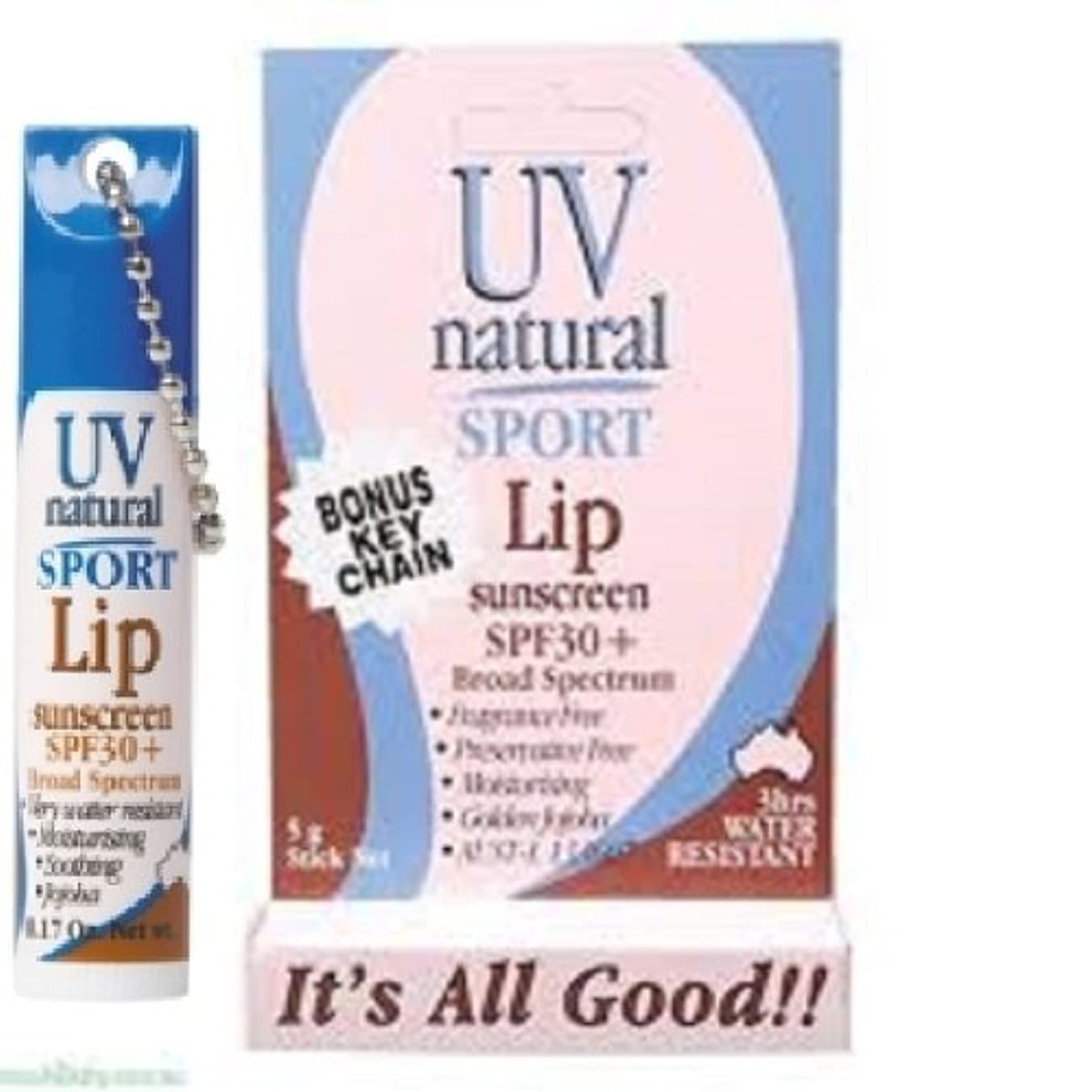 正気積分インターネット【UV NATURAL】Lip Sunscreen 日焼け止め Sport SPF30+ 5g 3本セット