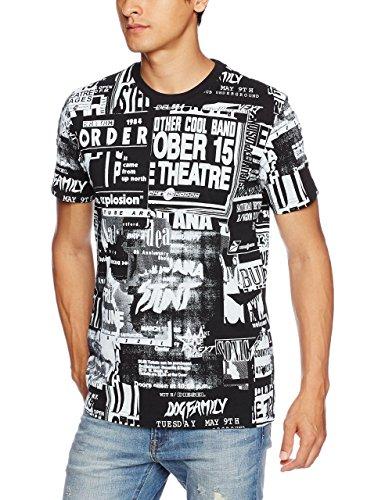(ディーゼル) DIESEL メンズ オールオーバープリントTシャツ T-JOE-QD T-SHIRT 00S03A0091B 900 L
