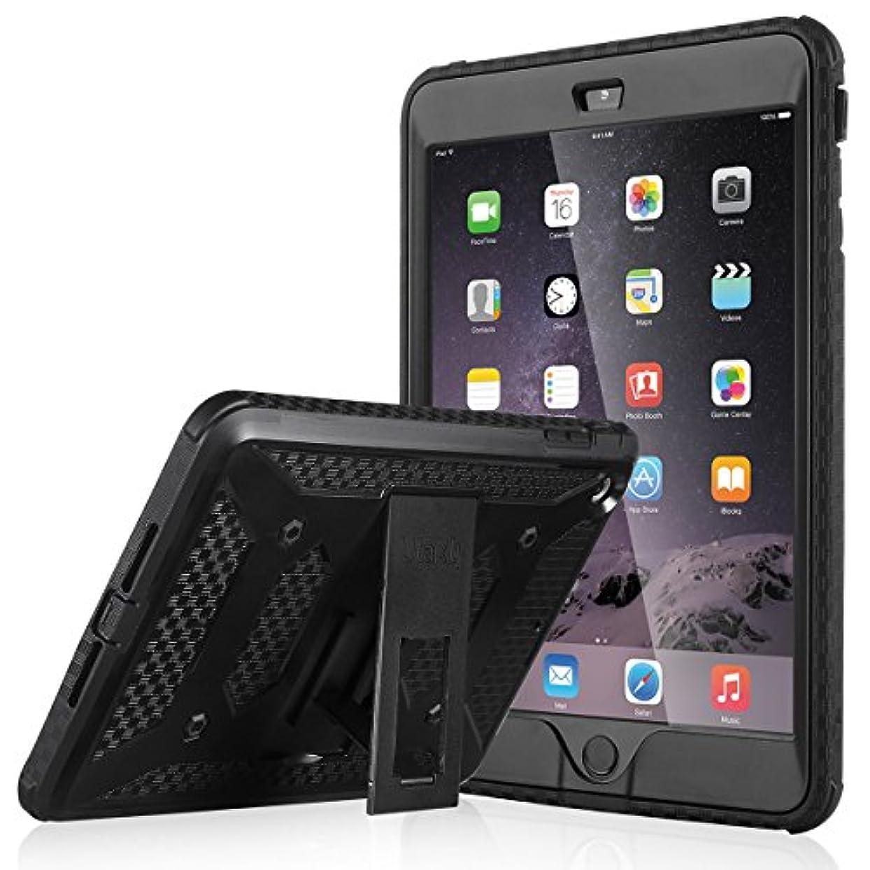 ダウン市区町村無駄だiPad Mini ケース iPad Mini2 ケース ULAK [ノックス アーマー シリーズ] iPad Mini 3ケース 二層構造 衝撃吸収 耐衝撃性 背面スタンド機能 Apple iPad Mini 1/2/3 専用 カバー (ブラック)