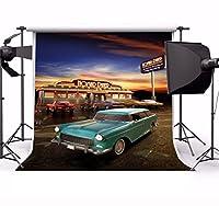 Yeele 10x 10ftレトロNostalgia 50s 60s Backdrop Vintage Eatery夕食オートバイ車パーティーバナー写真背景Girl Boy Adult Portrait写真ブース撮影小道具Photocall Studio