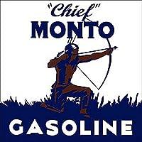 なまけ者雑貨屋 Chief Monto Gasoline メタルプレート ナンバープレート アンティーク な ブリキ の 看板 …