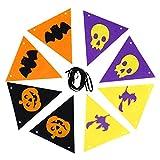 ハロウィーンバナー 三角旗 ハロウィン吊り飾り 引っ張り旗 装飾用具 不織布 バングバナー パーティー ハロウィン お祭り お祝いバナー インテリア 約2.1m