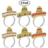 bestoyard Cinco De Mayo Party Hats Mexicanフィエスタパーティーコスチュームヘッドバンドアクセサリー6pcs
