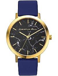 [クリスチャンポール] christianpaul 腕時計 ウォッチ ブルー×ゴールド 43mm レディース メンズ [並行輸入品]