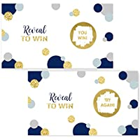 Abstract Dot Scratch Off Game (28 pc.) Mod Navy & Gold Shower or Party