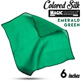 Magic Makers Professional Grade 6 Inch Magician's Silk - Emerald Green