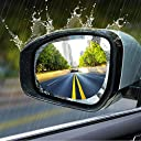 カーバックミラー 防水フィルム 車用 ドアミラーフィルム 汎用型撥水 雨除け 安全運転 視界確保 曇り止め 防眩 バックミラー 2枚入 楕円形(100×145mm)