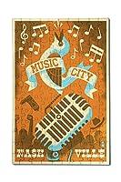 ナッシュビル、テネシー州–音楽City ( 12x 18プレミアムアクリルパズル、130ピース)