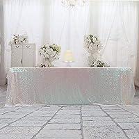 3Eホーム152x320cm(60x126インチ)パーティー用ケーキデザートテーブル展示会イベント用彩色長方形スパンコールテーブルクロス