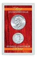 Last Eisenhower Dollar and First Susan B. Anthony Dollar
