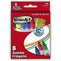 RoseArt Jumbo Crayons 8-Count Packaging May Vary (078VA-8) by Rose Art