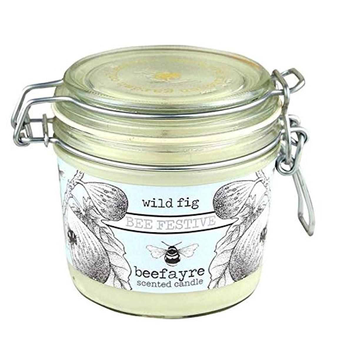 ヘロインインタラクション破壊的[Beefayre] 野生のイチジク大きな香りのキャンドルBeefayre - Beefayre Wild Fig Large Scented Candle [並行輸入品]