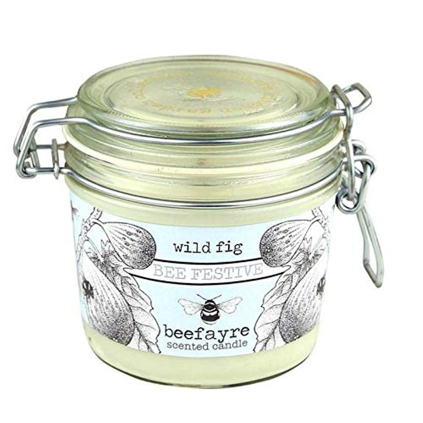 スキニー倍増冷笑する[Beefayre] 野生のイチジク大きな香りのキャンドルBeefayre - Beefayre Wild Fig Large Scented Candle [並行輸入品]
