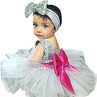プリンセスドレス、metfitベビー女の子キラキラリボンボールガウンチュールヘアバンドパーティー
