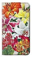 JPW3205MZ2 レトロ花 Retro Art Flowers Motorola Moto Z2 Play, Z2 Force フリップケース