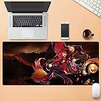 多機能増粘ゲーミングマウスパッド80×30センチメートル大型コンピュータマウスマットオフィスデスクトップキーボードマウスパッドノンスリップラバーベースステッチエッジ QDDSP (Color : C, Size : 5mm)