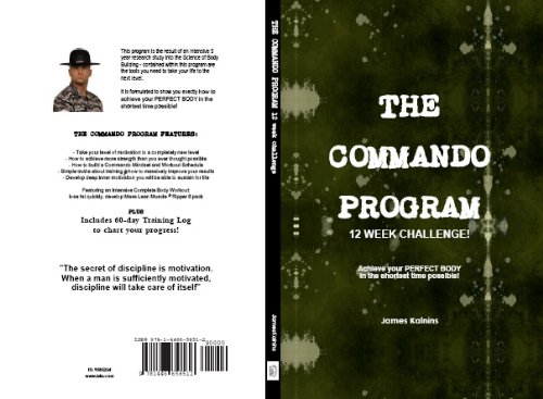 THE COMMANDO Program 12 Week CHALLENGE Fitness Workout Routine And Exercise Book For Men Featuring